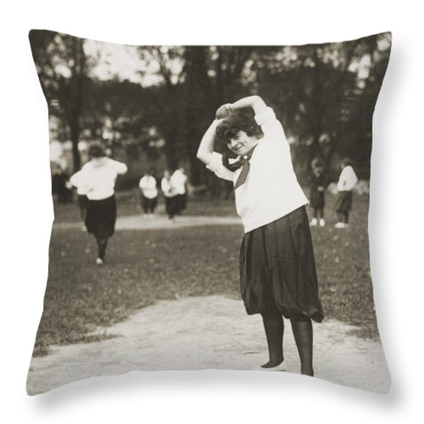 Softball Game Throw Pillow by Granger