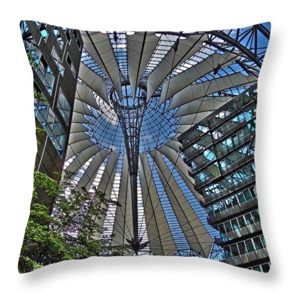 Sony Center - Berlin Throw Pillow by Juergen Weiss
