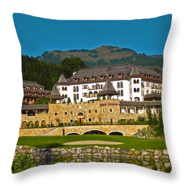 Spa Resort A-rosa - Kitzbuehel Throw Pillow by Juergen Weiss
