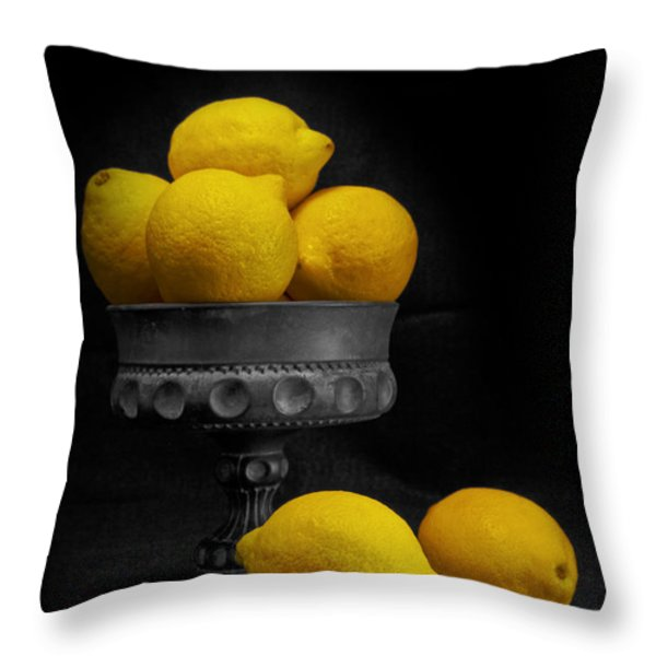 Still Life with Lemons Throw Pillow by Tom Mc Nemar