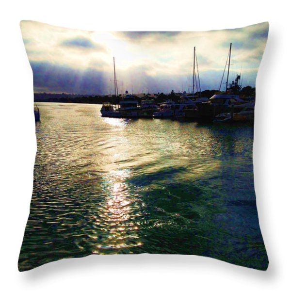 Stormy Skies Throw Pillow by Cheryl Young