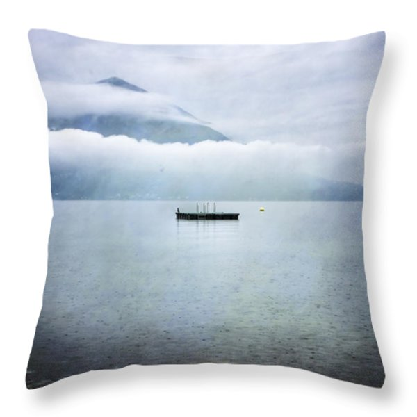 Swim Platform Throw Pillow by Joana Kruse