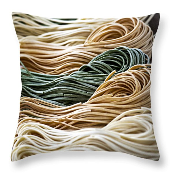 Tagliolini Pasta Throw Pillow by Elena Elisseeva