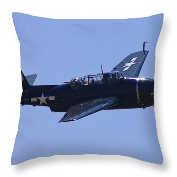 TBD Avenger Throw Pillow by Tommy Anderson