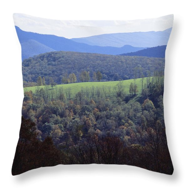 The Allegheny Front, North Fork Throw Pillow by Raymond Gehman