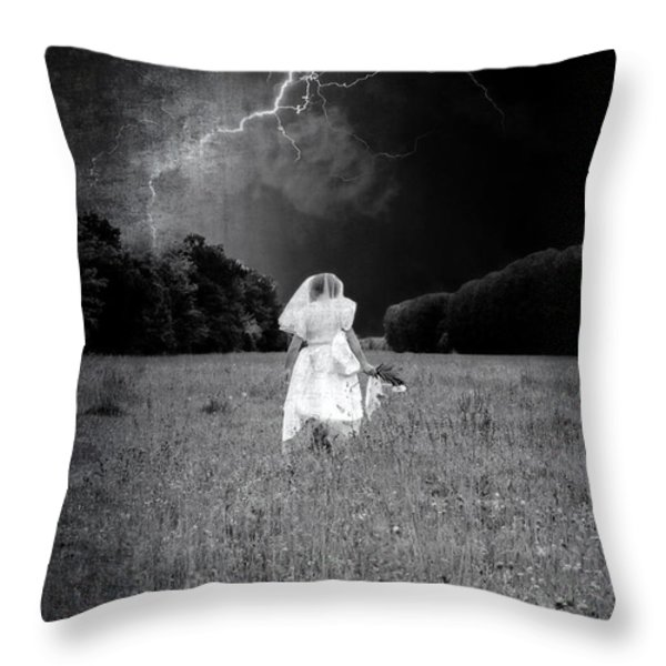 the bride Throw Pillow by Joana Kruse