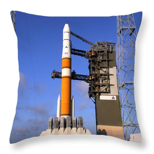 The Delta Iv Rocket That Will Launch Throw Pillow by Stocktrek Images
