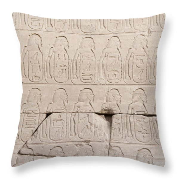 The Figures Of Prisoners On A Temple Throw Pillow by Taylor S. Kennedy