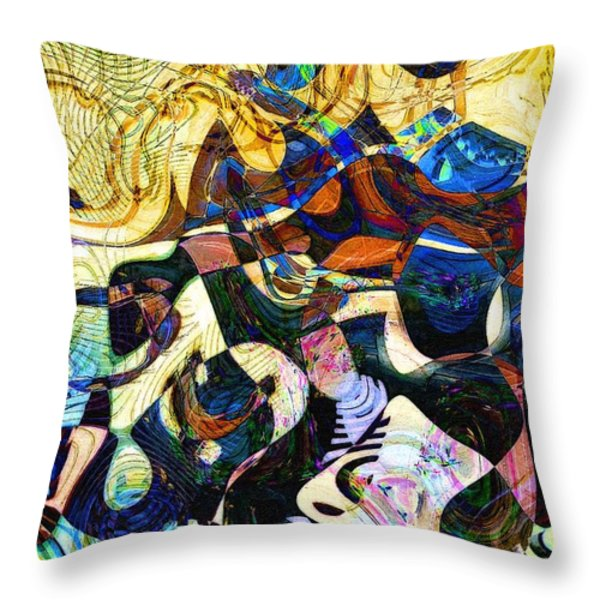 The Flight Of The Seahorse Throw Pillow by RC DeWinter