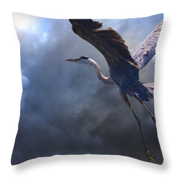 The Flight Of Titans Throw Pillow by Ron Jones