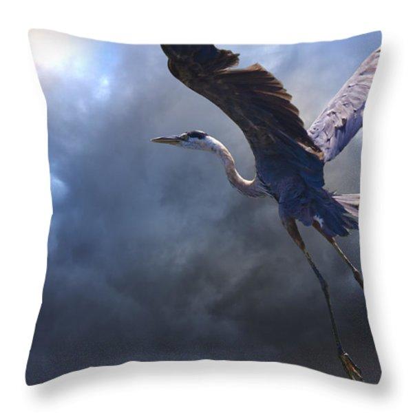 The Flight Of Titans Throw Pillow by Ron Jones