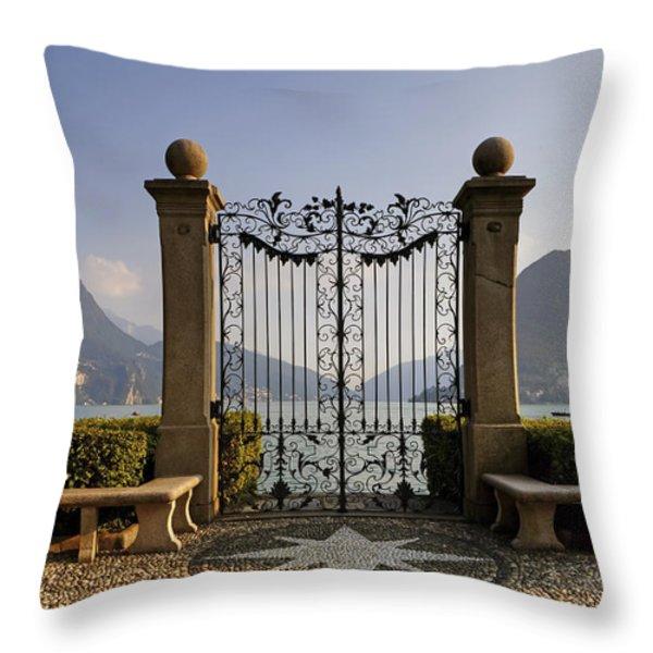 The gateway to Lago di Lugano Throw Pillow by Joana Kruse