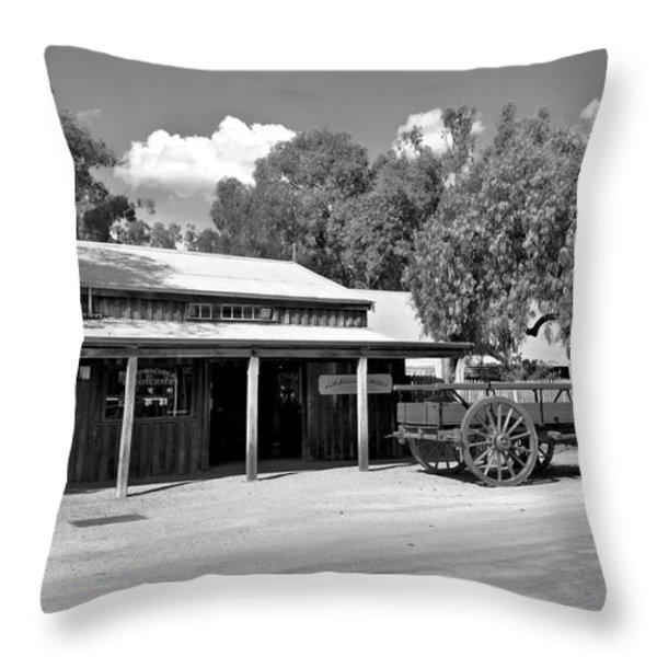 The Heritage town of Echuca Victoria Australia Throw Pillow by Kaye Menner