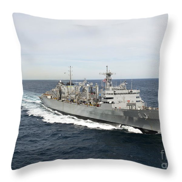 The Military Sealift Command Fast Throw Pillow by Stocktrek Images