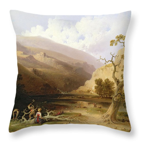The Pioneers Throw Pillow by Joshua Shaw