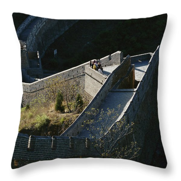 The Simatai Section Of The Great Wall Throw Pillow by Raymond Gehman