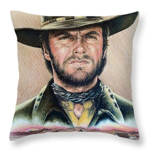 The Stranger Throw Pillow by Andrew Read