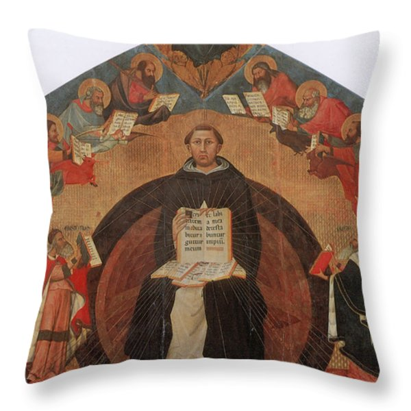 Thomas Aquinas, Italian Philosopher Throw Pillow by Photo Researchers