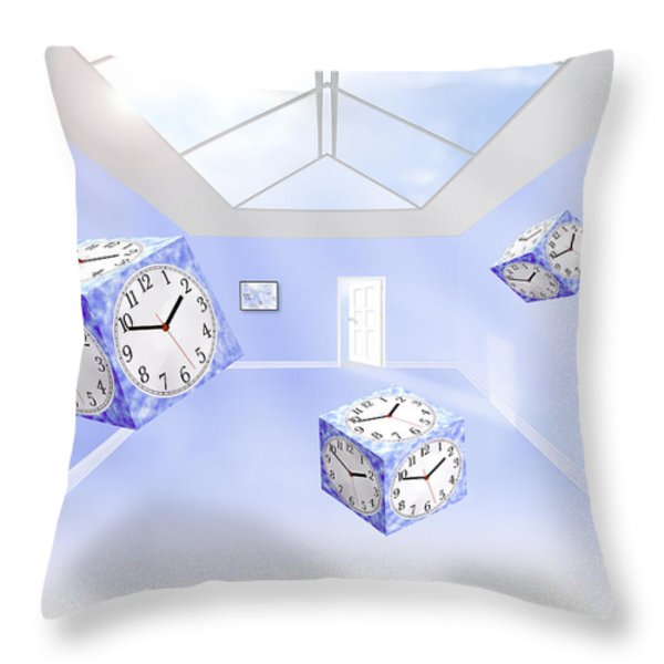Time Cubed Throw Pillow by Mike McGlothlen