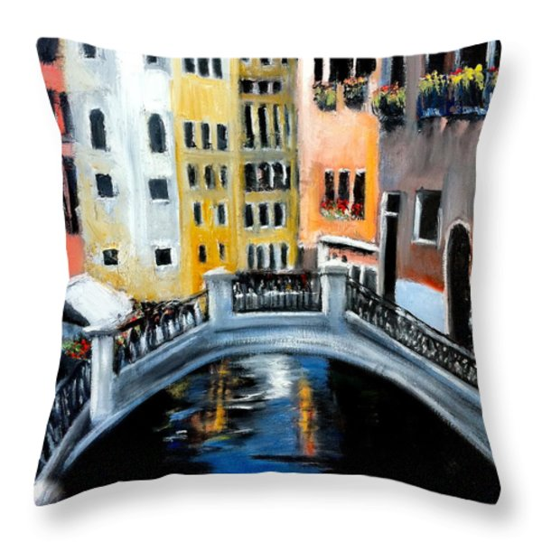 Tranquility In A Sea Of Tourists Throw Pillow by Tina Swindell