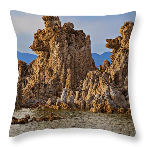 Tufa Mono Lake California Throw Pillow by Garry Gay