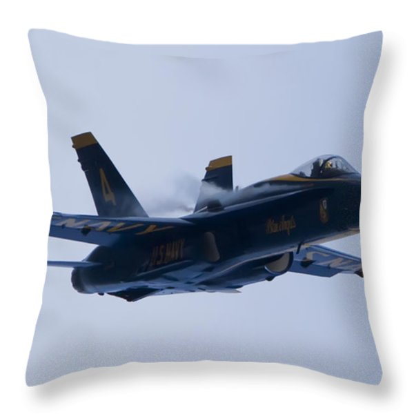 Us Navy Blue Angels High Speed Turn Throw Pillow by Dustin K Ryan