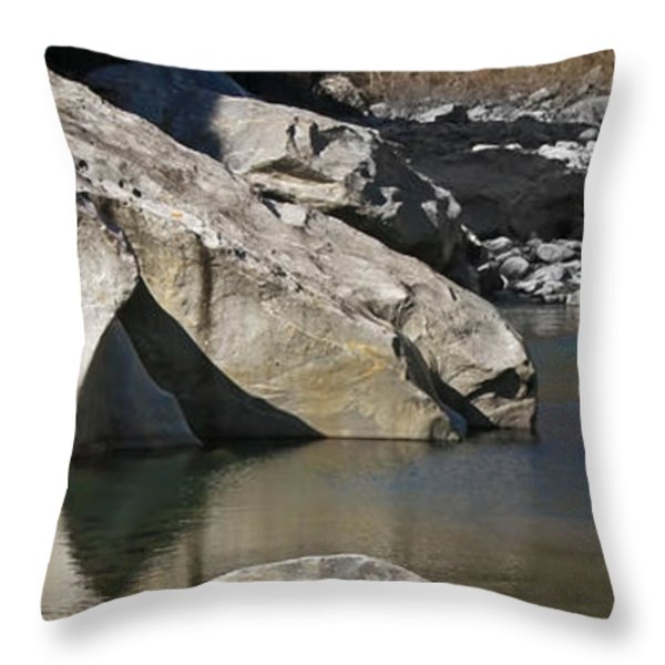 Valle Maggia Throw Pillow by Joana Kruse