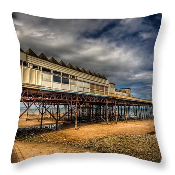 Victoria Pier Throw Pillow by Adrian Evans