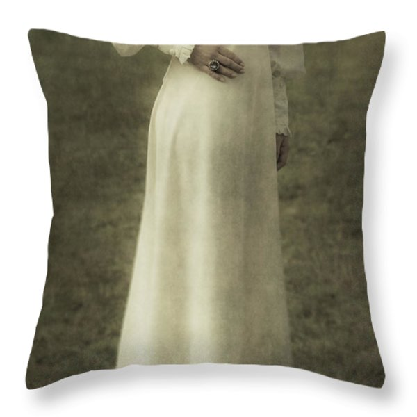 Victorian Lady Throw Pillow by Joana Kruse