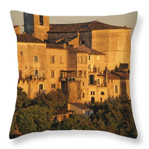 Village De Gordes. Vaucluse. France. Europe Throw Pillow by Bernard Jaubert