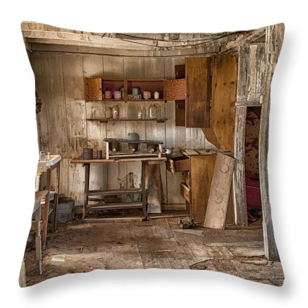 Vulture Mine Throw Pillow by Sandra Bronstein