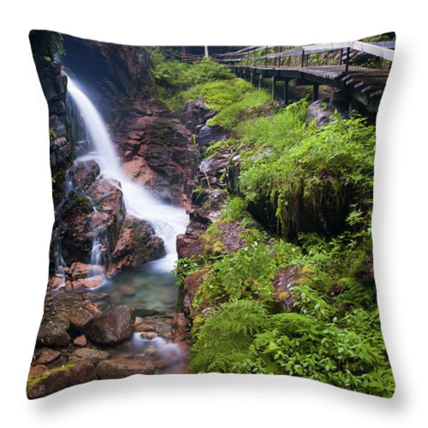 Waterfall  Throw Pillow by Sebastian Musial