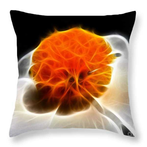 White Flower Throw Pillow by Wingsdomain Art and Photography