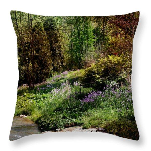 Wild Flowers Throw Pillow by Joseph G Holland