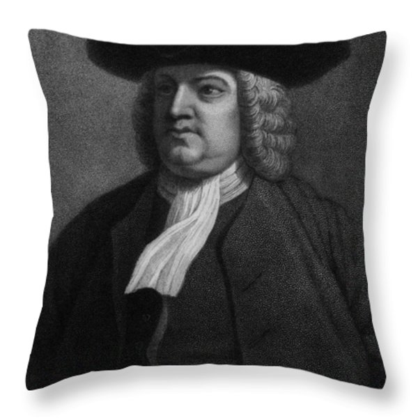 William Penn, Founder Of Pennsylvania Throw Pillow by Photo Researchers