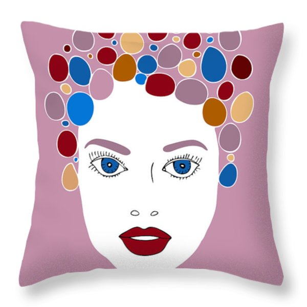 Woman in Fashion Throw Pillow by Frank Tschakert