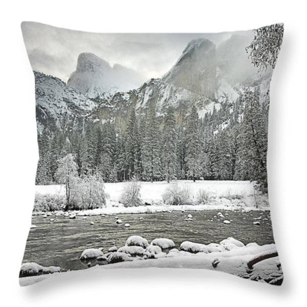 Yosemite National Park, California, Usa Throw Pillow by Robert Brown