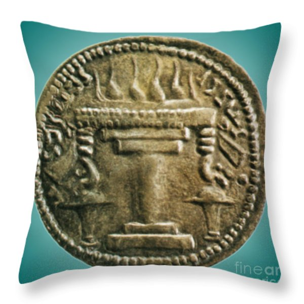 Zoroastrian Fire Altar Throw Pillow by Photo Researchers