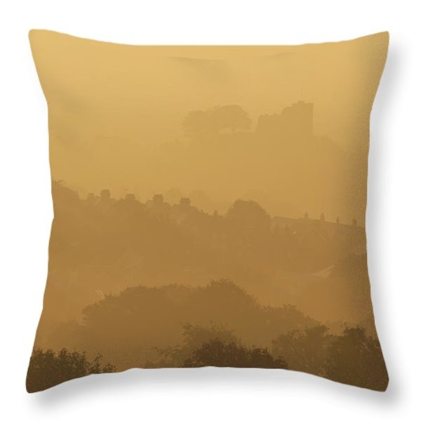 None Throw Pillow by Ian Cumming