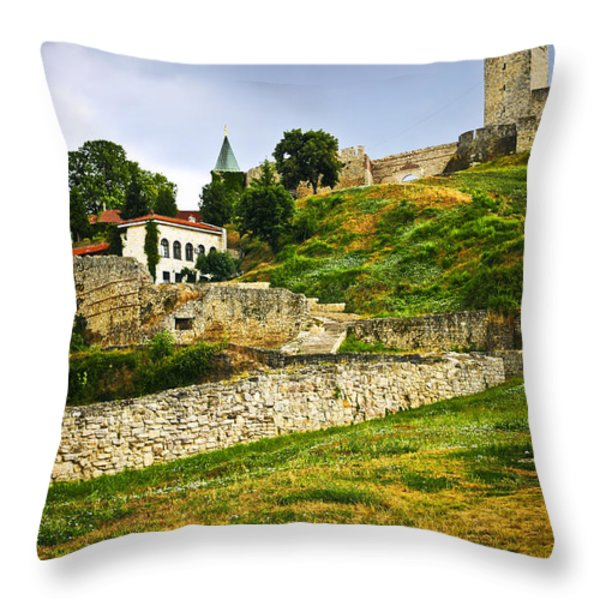 Kalemegdan Fortress In Belgrade Throw Pillow by Elena Elisseeva
