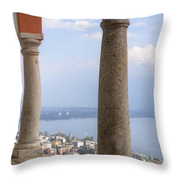 Madonna Del Sasso - Locarno Throw Pillow by Joana Kruse