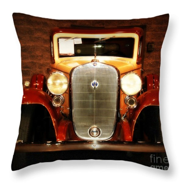 12v Collector Car Throw Pillow by Susanne Van Hulst