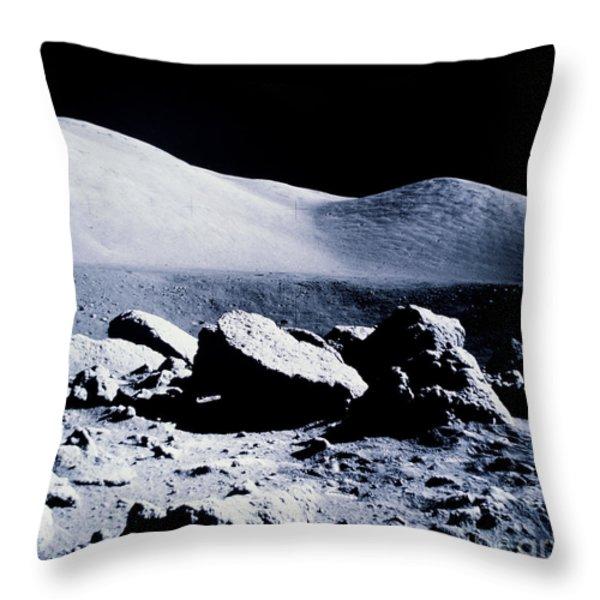 Apollo Mission 17 Throw Pillow by Nasa