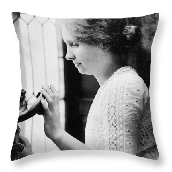 Helen Adams Keller Throw Pillow by Granger