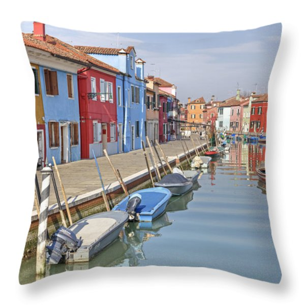 Burano Throw Pillow by Joana Kruse