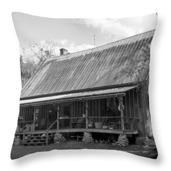 1850's Florida Cracker Farmhouse Throw Pillow by Lynn Palmer