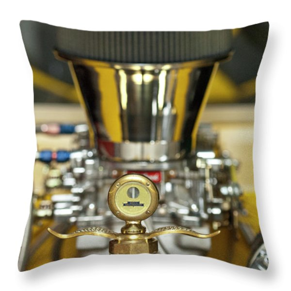 1920 Ford C-cab Pickup Hood Ornament 2 Throw Pillow by Jill Reger