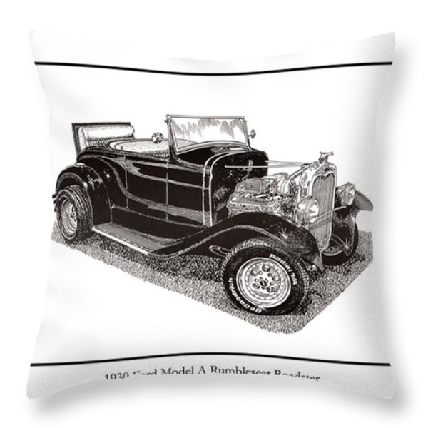 1930 Ford Model A Roadster Throw Pillow by Jack Pumphrey