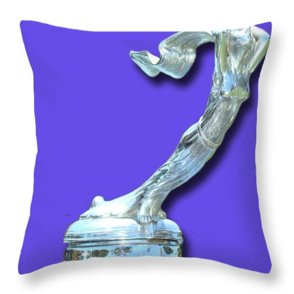 1931 Cadillac Goddess Mascot Throw Pillow by Jack Pumphrey