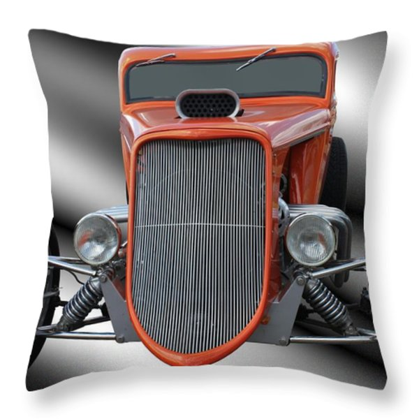 1933 Ford Roadster - Hotrod Version Of Scream Throw Pillow by Betty Northcutt